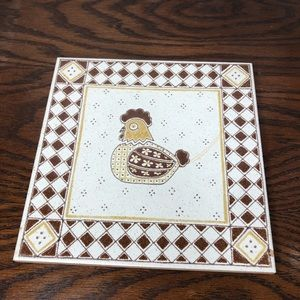 Other - Vintage ceramic chick made in Italy tile Hot Plate
